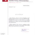 Instytut Klimatyzacji i Ogrzewnictwa Politechniki Wrocławskiej, w wynik postępowania przetargowego w trybie zapytania o cenę, wybrał w lipcu 2009 jako najkorzystniejszą ofertę firmy Trams z Wrocławia.